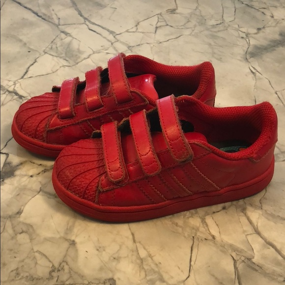 3a489219b12e adidas Other - Kids red Adidas shelltop sneakers Velcro 10
